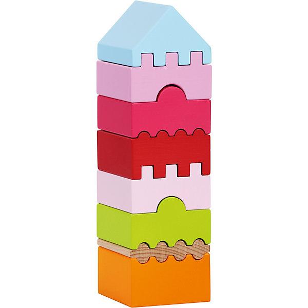 Attipas Пирамидка-конструктор Cubika LD-4, 8 деталей