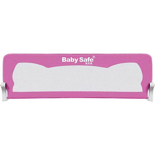Baby Safe Барьер для кроватки Baby Safe Ушки, 180х42 см, розовый baby safe барьер для кроватки baby safe 180х66 см бежевый