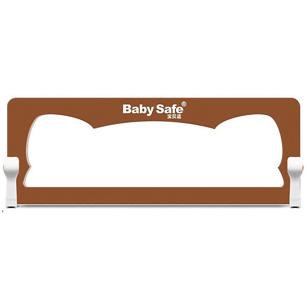 Baby Safe Барьер для кроватки Baby Safe Ушки, 150х66 см, коричневый baby safe барьер для кроватки baby safe 180х66 см бежевый