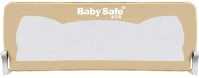 Baby Safe Барьер для кроватки Baby Safe Ушки, 150х42 см, бежевый барьеры и ворота baby safe барьер для кроватки 180 х 42 см