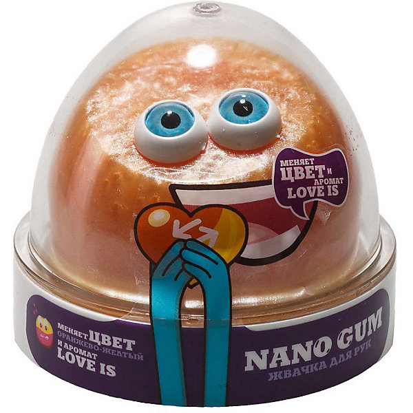 Nano Gum Жвачка для рук Nano Gum Love Is жёлто-оранжевая, 50 г