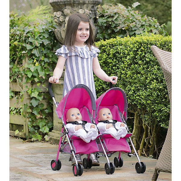 HTI Коляска-трость для двойни кукол Chicco