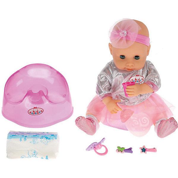 Карапуз Интерактивная кукла Карапуз Анечка карапуз одежда для куклы карапуз боди 40 42 см розовое