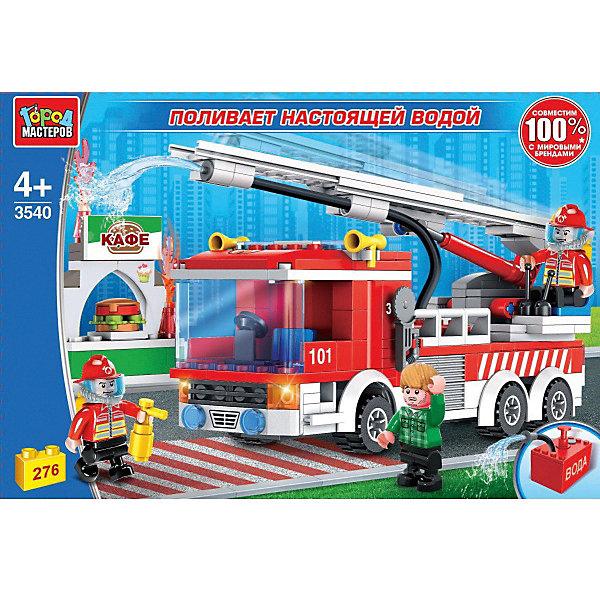 Город мастеров Конструктор Пожарная служба машина с фигурками, 276 деталей