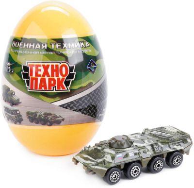 ТЕХНОПАРК Машинка Технопарк Военные модели в яйце, 1:72