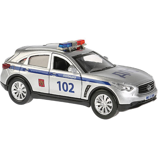 Фото - ТЕХНОПАРК Машинка Технопарк Infiniti QX70 Полиция технопарк машинка технопарк урал 5557 полиция 12 см