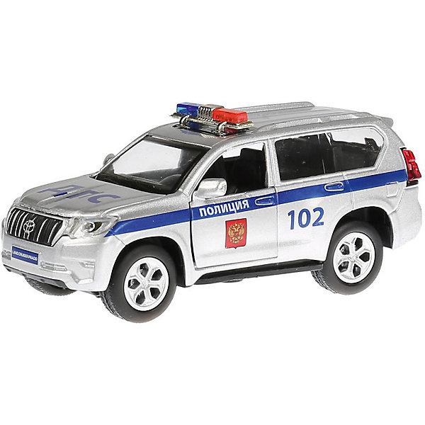 Фото - ТЕХНОПАРК Машинка Технопарк металлическая Toyota Prado Полиция технопарк машинка технопарк урал 5557 полиция 12 см