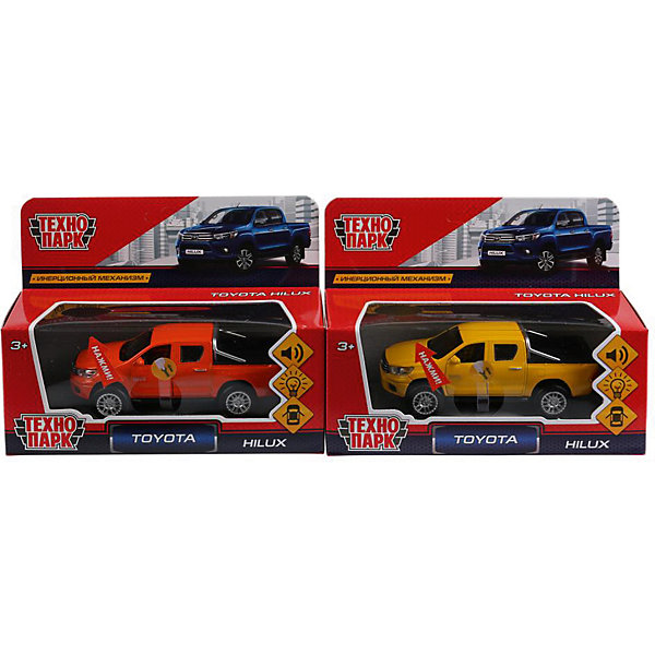 ТЕХНОПАРК Машинка Технопарк Toyota Hilux автомобиль технопарк газ 66 1 72 цвет в ассортименте ct10 151 g blc 288