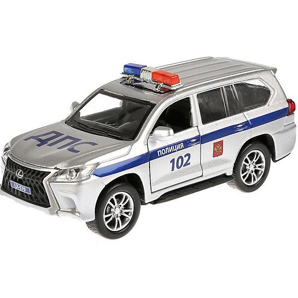 Фото - ТЕХНОПАРК Машинка Технопарк Lexus LX-570 Полиция технопарк машинка технопарк урал 5557 полиция 12 см