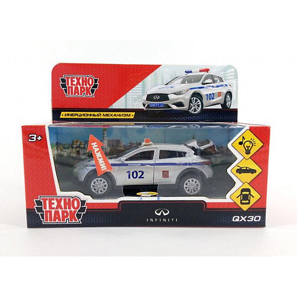 Фото - ТЕХНОПАРК Машинка Технопарк Infiniti QX30 Полиция технопарк машинка технопарк урал 5557 полиция 12 см
