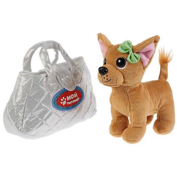 Купить Мягкая игрушка Мой питомец Собака в серебряной сумочке, -, Китай, Унисекс