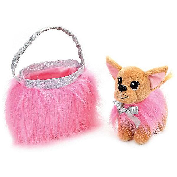Купить Мягкая игрушка Мой питомец Собака чихуахуа в розовой сумочке, Китай, Унисекс