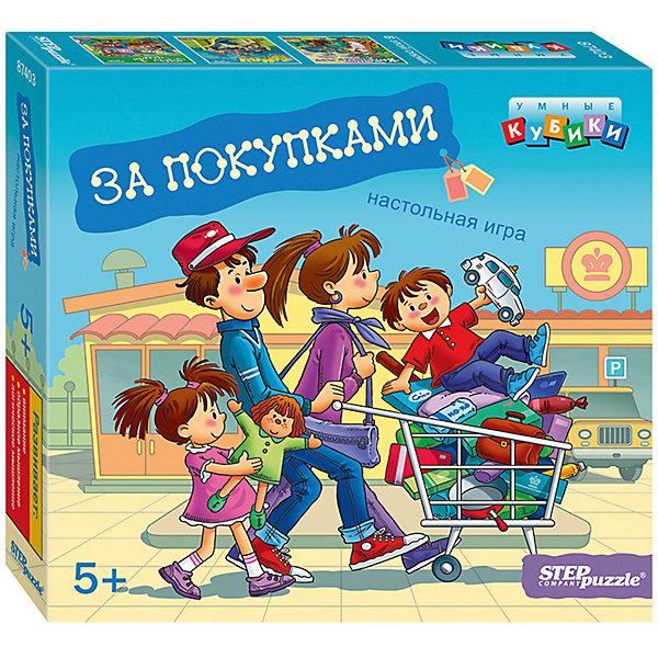 Степ Пазл Развивающая игра За покупками (Умные кубики)
