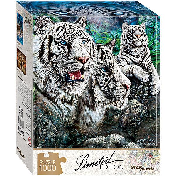 Степ Пазл Мозаика puzzle 1000 Найди 13 тигров (Limited Edition)