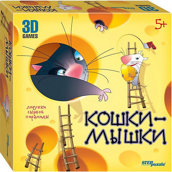 Степ Пазл Настольная игра Кошки-мышки. Ловушки сырной пирамиды