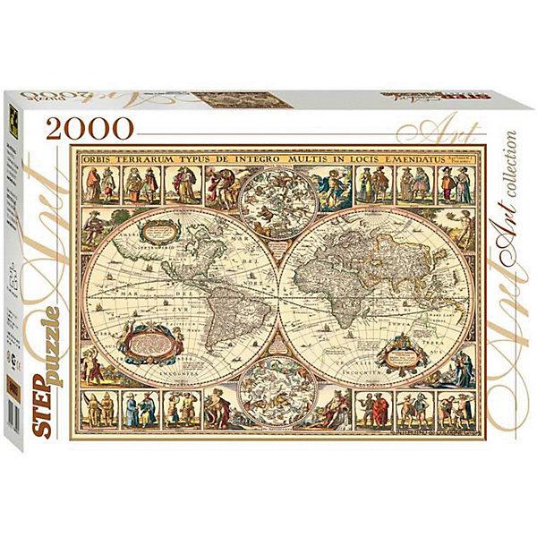 Степ Пазл Мозаика puzzle 2000 Историческая карта мира пазл step puzzle степ пазл историческая карта пластиковая коллекция 588х378 1000 элементов