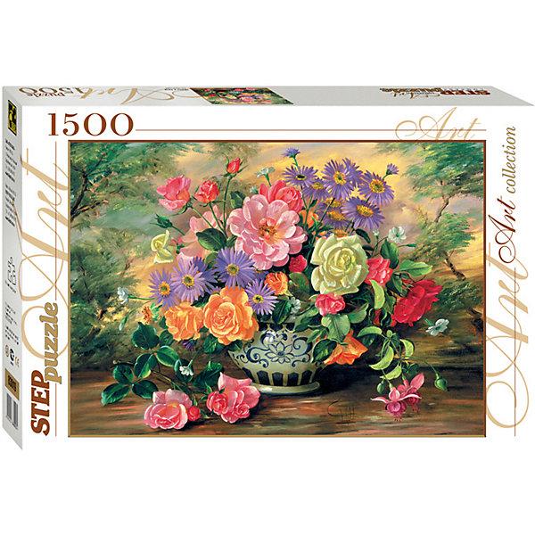 Степ Пазл Мозаика puzzle 1500 Цветы в вазе алмазная мозаика тм цветной нежные цветы в белой вазе 40x50 см