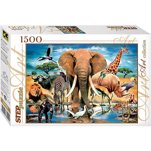 Степ Пазл Мозаика puzzle 1500 Мир животных