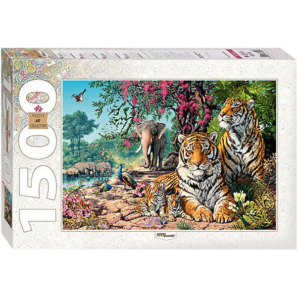 Степ Пазл Мозаика puzzle 1500 Тигры