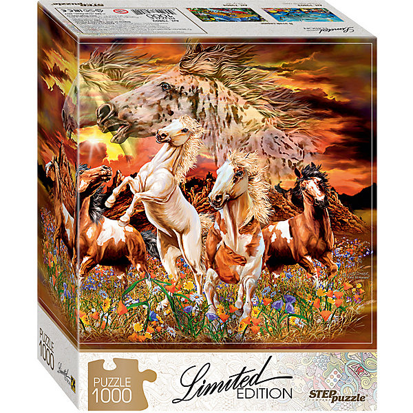 Степ Пазл Мозаика puzzle 1000 Найди 16 лошадей (Limited Edition)