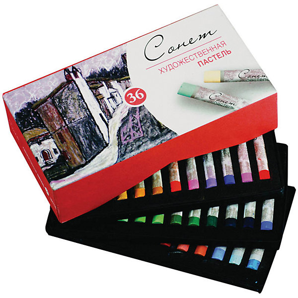 Купить Художественная пастель 3ХК Сонет , 36 цветов, Невская палитра, Китай, Унисекс