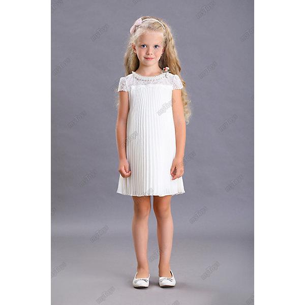 Нарядное платье Маленькая леди, Белый, Нарядное платье Маленькая леди