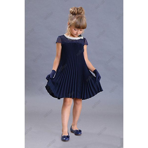 Нарядное платье Маленькая леди, Синий, Нарядное платье Маленькая леди