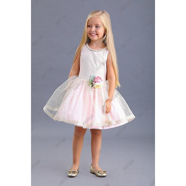 Нарядное платье Маленькая леди, Розовый, Нарядное платье Маленькая леди