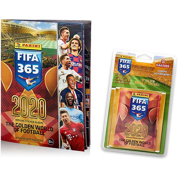 Купить Альбом Panini FIFA 365 - 2020 и блистер с наклейками, 60 пакетиков в блистере, Россия, Мужской