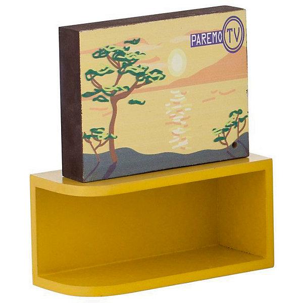 PAREMO Интерактивная мебель для Барби Paremo Телевизор с тумбой, свет и звук