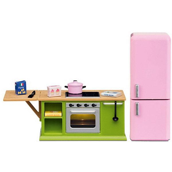 Фото - Lundby Набор мебели для домика Lundby Смоланд Кухонный набор с холодильником аксессуары для домика lundby смоланд батут с машинкой