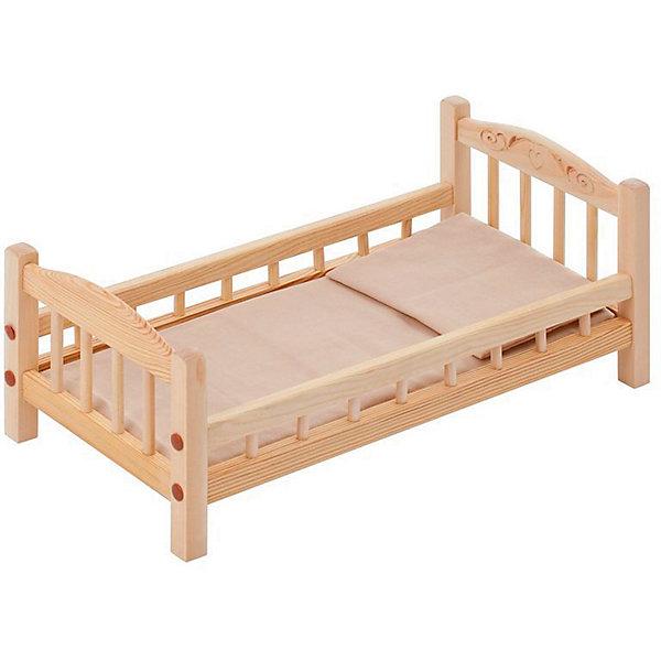 PAREMO Классическая кроватка для кукол Paremo, бежевый текстиль