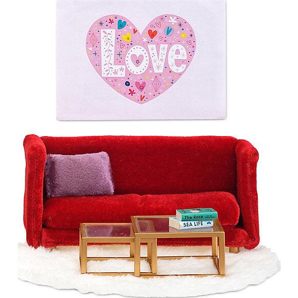 Фото - Lundby Кукольная мебель Lundby Смоланд Гостиная в красных тонах аксессуары для домика lundby смоланд батут с машинкой