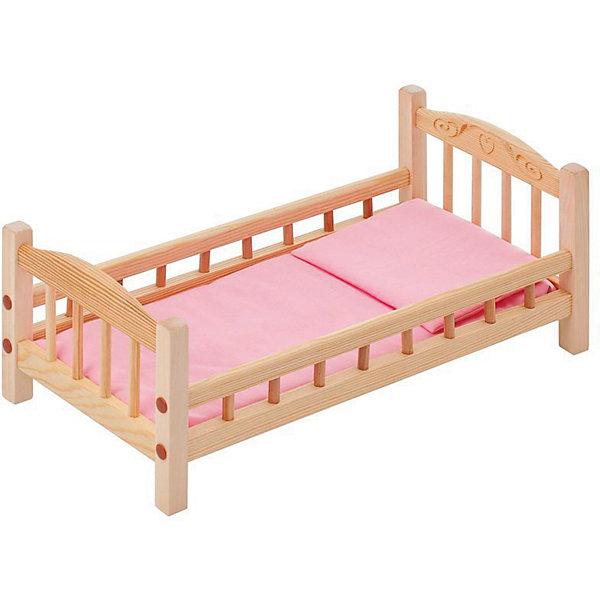 PAREMO Классическая кроватка для кукол Paremo, розовый текстиль