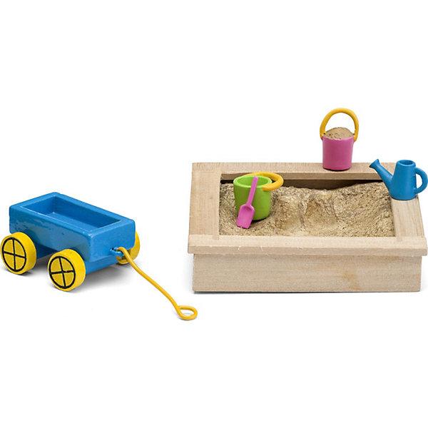 Фото - Lundby Набор для домика Lundby Смоланд Песочница с игрушками аксессуары для домика lundby смоланд батут с машинкой