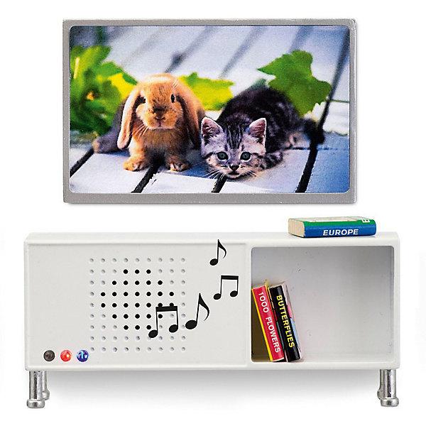 Lundby Мебель для домика Музыкальный центр и телевизор