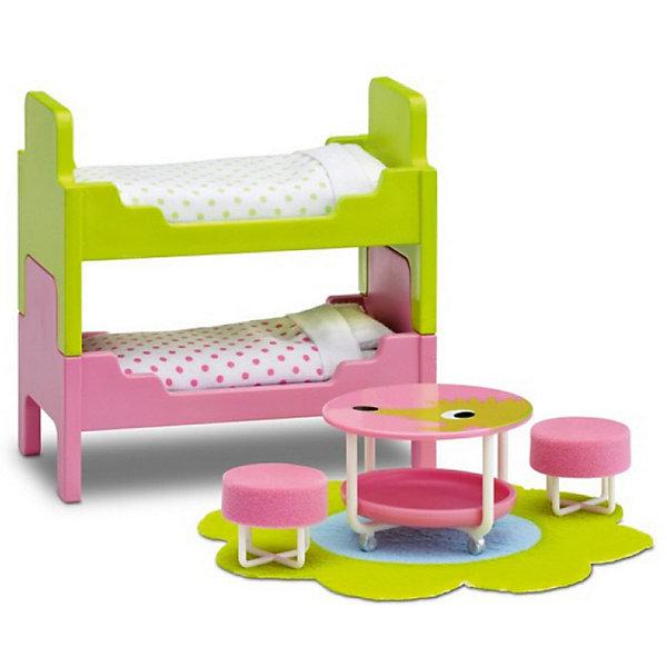 Фото - Lundby Мебель для домика Lundby Смоланд Детская с 2 кроватями аксессуары для домика lundby смоланд батут с машинкой