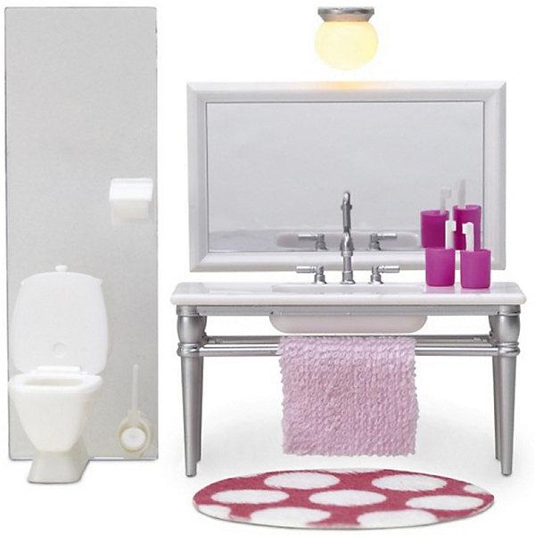 Фото - Lundby Кукольная мебель Lundby Смоланд Ванная с 1 раковиной аксессуары для домика lundby смоланд батут с машинкой