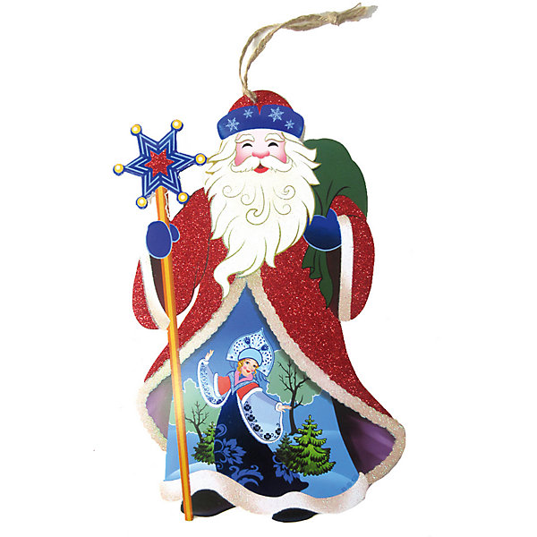 Новогодняя сказка Подвеска Дед мороз, 20х35,5 см