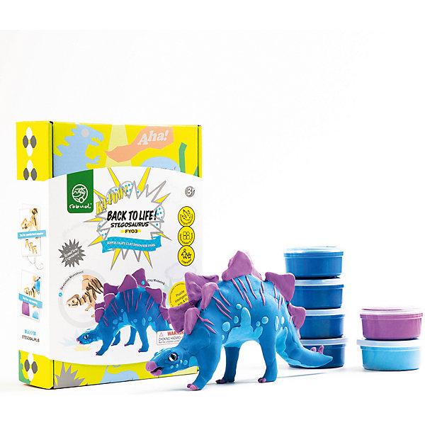 Robotime Набор для моделирования и лепки Стегозавр, 42 детали
