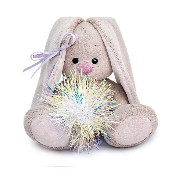 Budi Basa Мягкая игрушка Зайка Ми с новогодней подвеской (малыш), 15 см