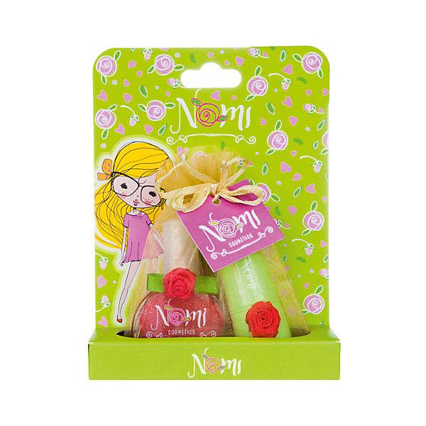 Nomi Детская декоративная косметика Клубника, бальзам и лак