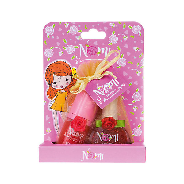 Nomi Детская декоративная косметика Клубничное варенье, блеск и лак