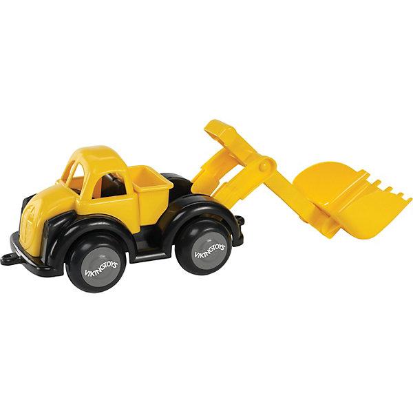 Viking Toys Строительная машина с ковшом, желтая