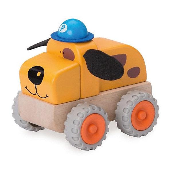 Wonderworld Деревянная игрушка Полицейская машина Собачка Miniworld