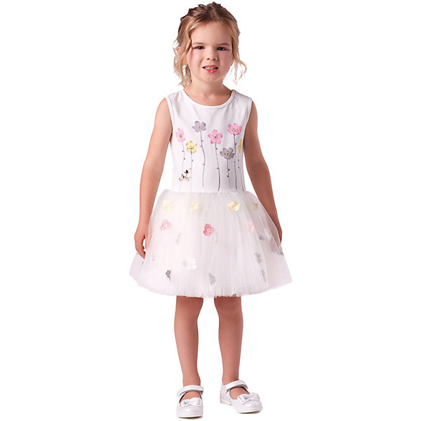 Нарядное платье Valini, Россия, белый, 104, 98, 134, 110, 128, 116, 122, Женский  - купить со скидкой