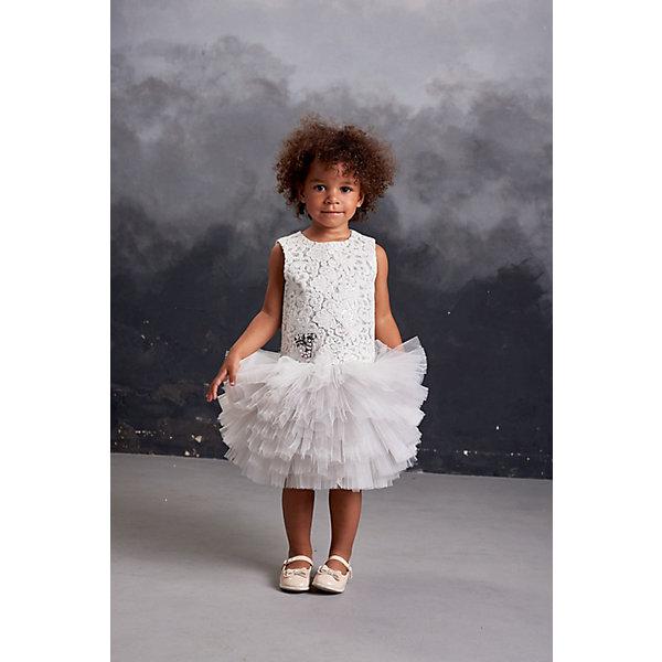 Купить Нарядное платье Valini, Россия, серый, 128, 116, 122, 104, 110, 98, Женский
