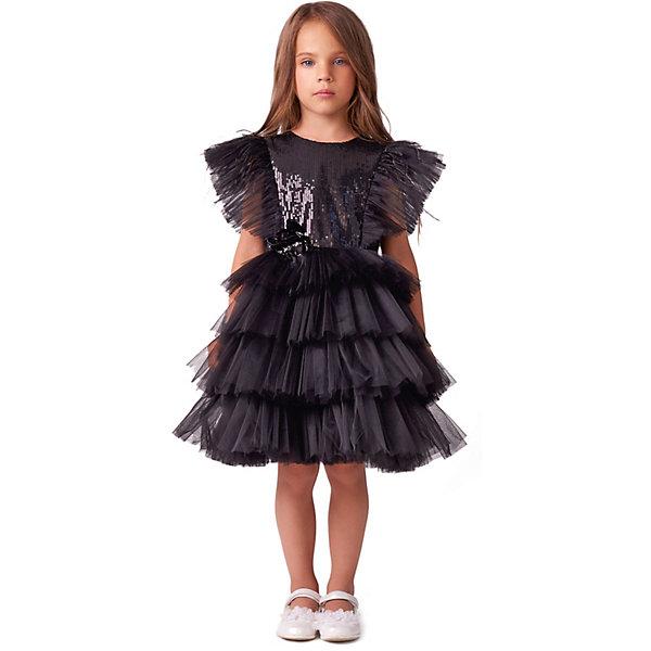 Купить Нарядное платье Valini, Россия, черный, 128, 116, 104, 110, 134, 122, Женский