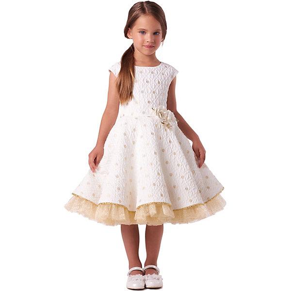 Купить Нарядное платье Valini, Россия, желтый, 122, 110, 116, 128, 104, 98, 134, Женский