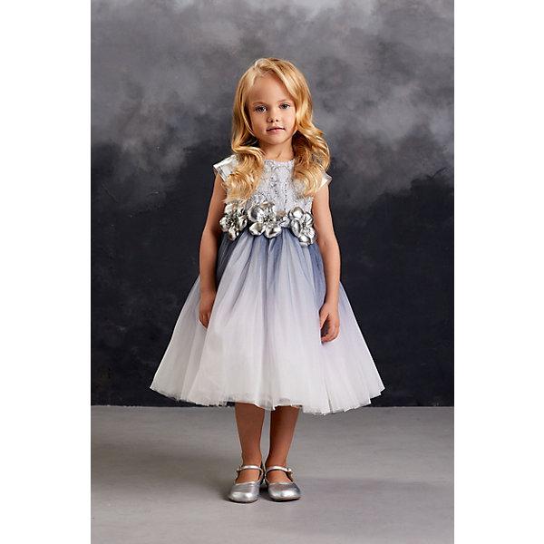 Нарядное платье Valini, Россия, серый, 104, 110, 116, 122, Женский  - купить со скидкой